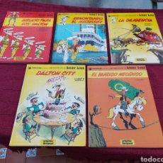 Cómics: LUCKY LUKE: LA DILIGENCIA, EL BANDIDO MECANICO,DALTON CITY, INDULTO PARA LOS DALTON, REMONTANDO EL M. Lote 215580831