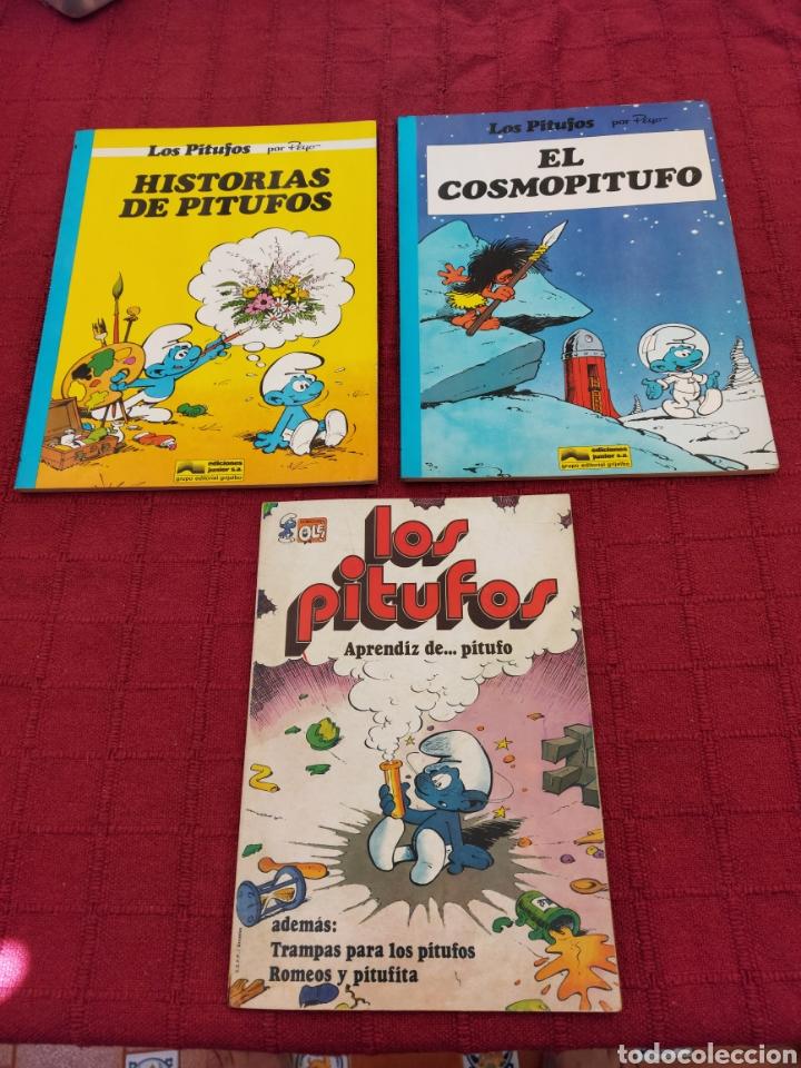Cómics: LOS PITUFOS: HISTORIAS DE PITUFOS, EL COSMOPITUFO, APRENDIZ DE PITUFO, GRIJALBO, OLE, BRUGUERA - Foto 2 - 216874371