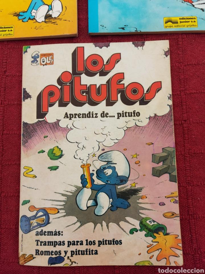 Cómics: LOS PITUFOS: HISTORIAS DE PITUFOS, EL COSMOPITUFO, APRENDIZ DE PITUFO, GRIJALBO, OLE, BRUGUERA - Foto 3 - 216874371