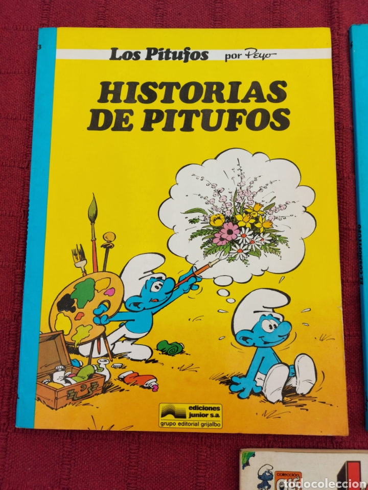 Cómics: LOS PITUFOS: HISTORIAS DE PITUFOS, EL COSMOPITUFO, APRENDIZ DE PITUFO, GRIJALBO, OLE, BRUGUERA - Foto 5 - 216874371