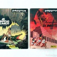Cómics: PAPYRUS Nº5 + Nº8 (EL EGIPCIO BLANCO + LA METAMORFOSIS DE IMHOTEP) DE GIETER, GRIJALBO, TAPA DURA. Lote 216934280