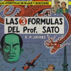 Cómics: BLAKE Y MORTIMER. LAS 3 FORMULAS DEL PROFESOR SATO. 1ª PARTE. EDGARD P.JACOBS. GRIJALBO. TAPA DURA. Lote 217204391