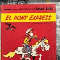 Cómics: EL PONY EXPRESS DE LUCKY LUKE, CATALÁN, Nº40,DE GRIJALBO, TAPA DURA, IMPECABLE. Lote 217430845