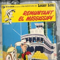 Cómics: REMUNTANT EL MISSISSIPI DE LUCKY LUKE, GRIJALBO Nº9CATALÁN, TAPA DURA, IMPECABLE 1992. Lote 217431281