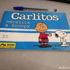 Cómics: CARLITOS Nº 31: CARLITOS NECESITA A SNOOPY / SCHULZ / JUNIOR GRIJALBO MONDADORI 1999. Lote 219422116
