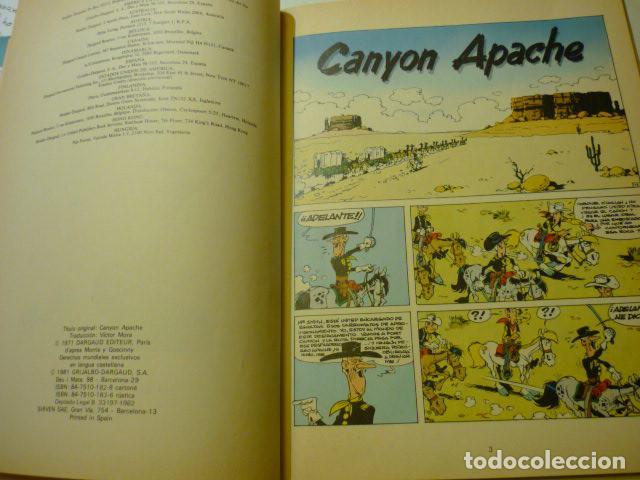 Cómics: LUCKY LUKE Nº 17 - CANYON APACHE - GOSCINNY//MORRIS, 1981 - TAPA DURA - Foto 2 - 219904776