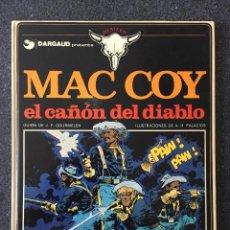 Cómics: EL CAÑON DEL DIABLO - MAC COY Nº 9 - 1ª EDICIÓN - GRIJALBO / DARGAUD - 1982 - ¡MUY BUEN ESTADO!. Lote 220880920