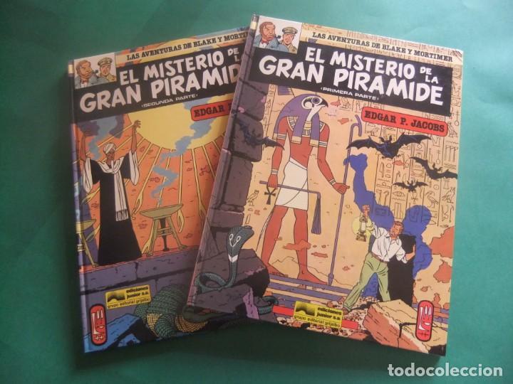 LAS AVENTURAS DE BLAKE Y MORTIMER NUMEROA 1 Y 2 EL SECRETO DE LA GRAN PIRAMIDE GRIJALBO (Tebeos y Comics - Grijalbo - Blake y Mortimer)