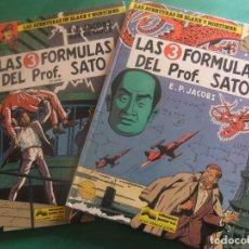 Cómics: LAS AVENTURAS DE BLAKE Y MORTIMER NUMEROS 8 Y 12 LAS 3 FORMULAS DEL PROFESOR SATO GRIJALBO. Lote 221552772