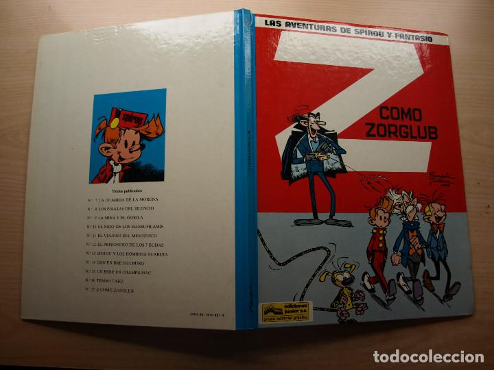 Cómics: LAS AVENTURAS DE SPIROU Y FANTASIO - Z COMO ZORGLUB - EDICIONES JUNIOR - NUEVO - Foto 2 - 221652497