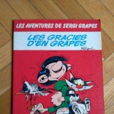 Cómics: LES GRACIES D'EN GRAPES - LES AVENTURES DE SERGI GRAPES - CATALÁ RÚSTICA. Lote 221769337