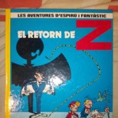 Cómics: SPIROU EL RETORN DE Z GRIJALBO EN CATALÁN. Lote 221844196