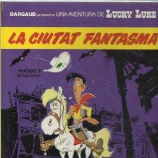 Cómics: LUCKY LUKE: LA CIUTAT FANTASMA, 1989, GRIJALBO, IMPECABLE. Lote 221946005