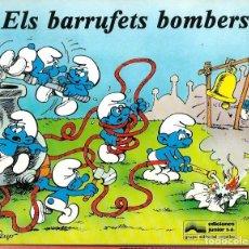 Cómics: ELS BARRUFETS BOMBERS - EDICIONES JUNIOR 1982 - LLIBRE IL·LUSTRAT PER PEYO, MOLT DIFICIL. Lote 222231510