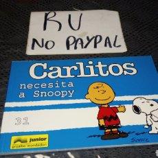 Cómics: CARLITOS NECESITA A SNOOPY 31 JUNIOR GRIJALBO. Lote 222380592