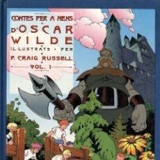 Cómics: CONTES PER A NENS D'OSCAR WILDE (JUNIOR, 1992) DE CRAIG RUSSELL. EN CATALÀ. TAPA DURA.. Lote 222445786