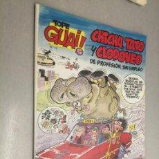 Cómics: TOPE GUAI! Nº 12: CHICHA, TATO Y CLODOVEO - EL ARCA DE NOÉ II / ED. JUNIOR - GRIJALBO. Lote 222532710