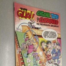 Cómics: TOPE GUAI! Nº 15: CHICHA, TATO Y CLODOVEO - GRAN HOTEL / ED. JUNIOR - GRIJALBO. Lote 222532768