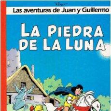Cómics: * LAS AVENTURAS DE JUAN Y GUILLERMO : LA PIEDRA DE LA LUNA * ED. JUNIOR GRIJALBO 1ª EDICIÓN 1986 *. Lote 222588891