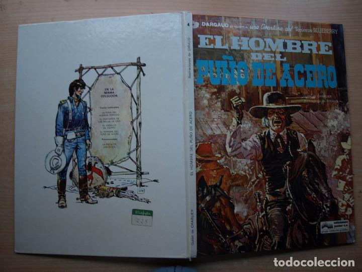 Cómics: BLUEBERRY - EL HOMBRE DEL PUÑO PUÑO DE ACERO - TAPA DURA - GRIJALBO - AÑO 1978 - Foto 2 - 222692731