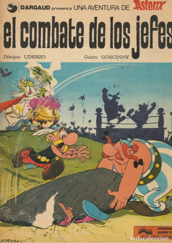 ASTERIX EL COMBATE DE LOS JEFES 1977 GRJALBO JUNIOR GOSCINNY UDERZO (Tebeos y Comics - Grijalbo - Asterix)