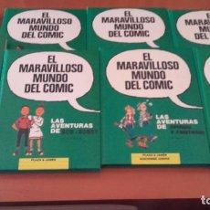 Cómics: EL MARAVILLOSO MUNDO DEL CÓMIC COMPLETA 8 TOMOS EDICIONES JUNIOR PLAZA & JANES. Lote 223062896