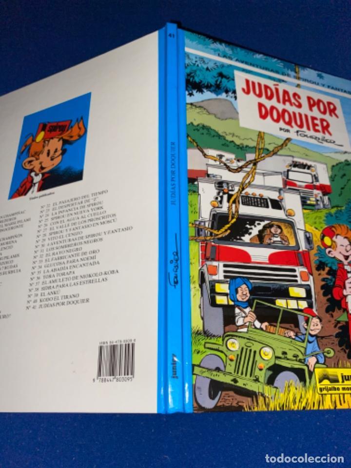 Cómics: SPIROU Y FANTASIO Nº 41 JUDIAS POR DOQUIER ED. JUNIOR 1982 48 PÁGINAS NUEVO Y NUNCA LEÍDO - Foto 6 - 224065158