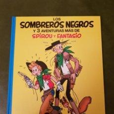 Comics : LOS SOMBREROS NEGROS Y 3 AVENTURAS MÁS DE SPIROU Y FANTASIO. Lote 224191136