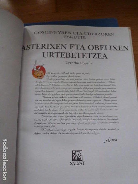 Cómics: ASTERIX & OBELIXEN URTEBETEZTEA. EL CUMPLEAÑOS DE ASTÉRIX Y OBÉLIX. EN EUSKERA. TAPAS DURAS. NUEVO - Foto 2 - 224624671