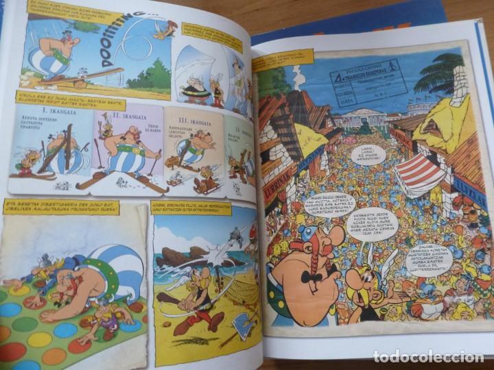 Cómics: ASTERIX & OBELIXEN URTEBETEZTEA. EL CUMPLEAÑOS DE ASTÉRIX Y OBÉLIX. EN EUSKERA. TAPAS DURAS. NUEVO - Foto 3 - 224624671