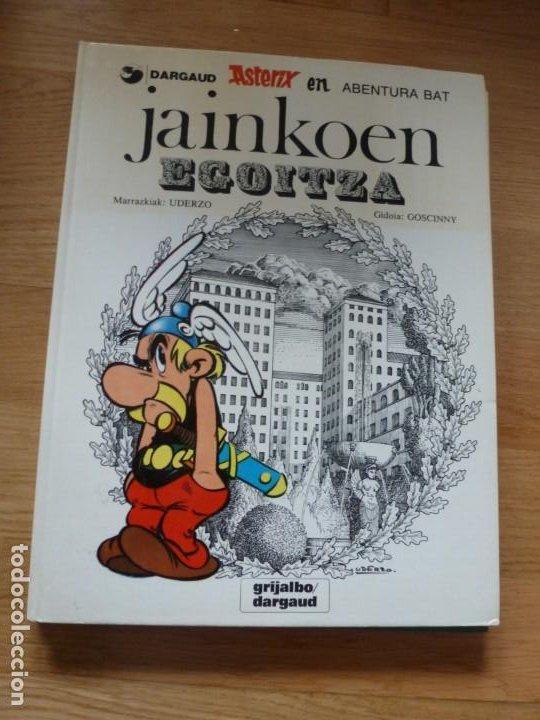 ASTÉRIX. JAINKOEN EGOITZA. LA RESIDENCIA DE LOS DIOSES. EN EUSKERA. TAPAS DURAS (Tebeos y Comics - Grijalbo - Asterix)
