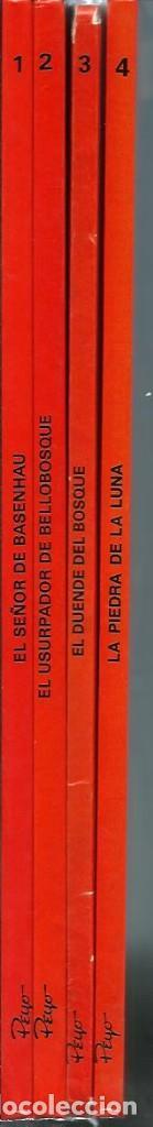 PEYO - AVENTURAS DE JUAN Y GUILLERMO - JOHAN Y PIRLUIT - JUNIOR 1986, 4 ALBUMES, COLECCION COMPLETA (Tebeos y Comics - Grijalbo - Otros)