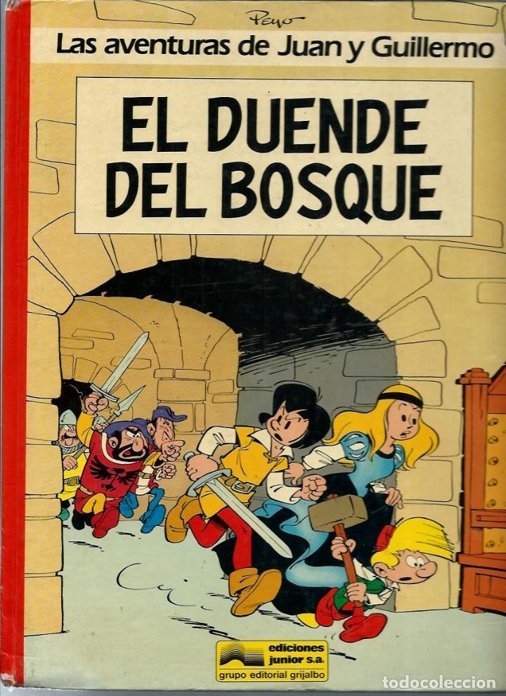 Cómics: PEYO - AVENTURAS DE JUAN Y GUILLERMO - JOHAN Y PIRLUIT - JUNIOR 1986, 4 ALBUMES, COLECCION COMPLETA - Foto 3 - 224661982