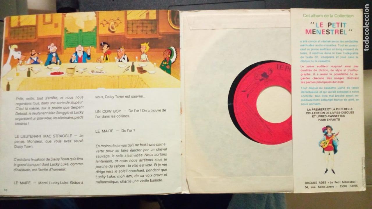 Cómics: LUCKY LUKE DAISY TOWN CUENTO CON DISCO 45 RPM EN FRANCES - Foto 2 - 224678297