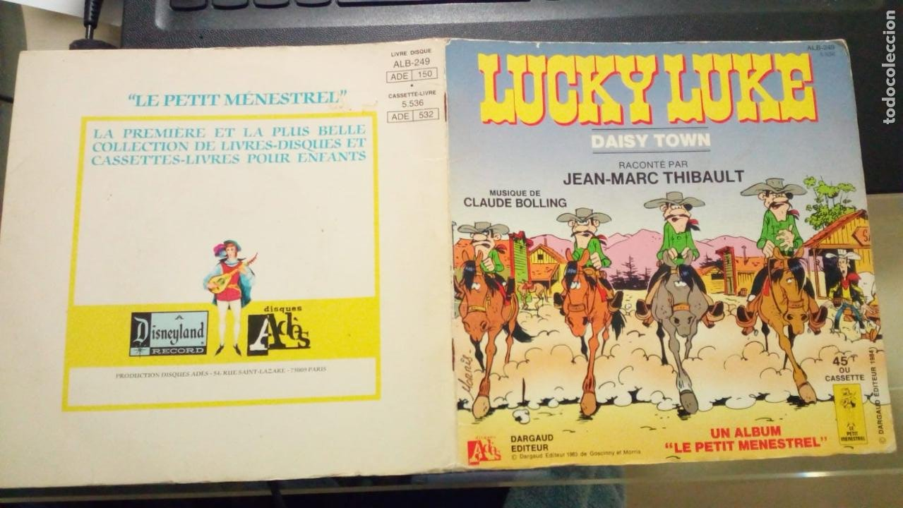 LUCKY LUKE DAISY TOWN CUENTO CON DISCO 45 RPM EN FRANCES (Tebeos y Comics - Grijalbo - Lucky Luke)