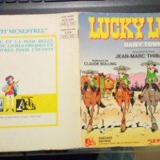 Cómics: LUCKY LUKE DAISY TOWN CUENTO CON DISCO 45 RPM EN FRANCES. Lote 224678297