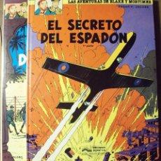 Cómics: BLAKE Y MORTIMER - EL SECRETO DEL ESPADÓN - 1ª Y 2ª PARTE - PRIMERA EDICIÓN. Lote 225013935