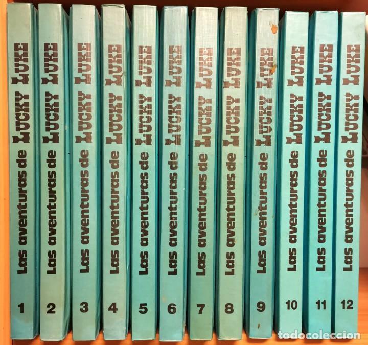 NUMULITE E0104 LAS AVENTURAS DE LUCKY LUKE GRIJALBO DARGAUD S.A. COMPLETA 12 TOMOS (Tebeos y Comics - Grijalbo - Lucky Luke)