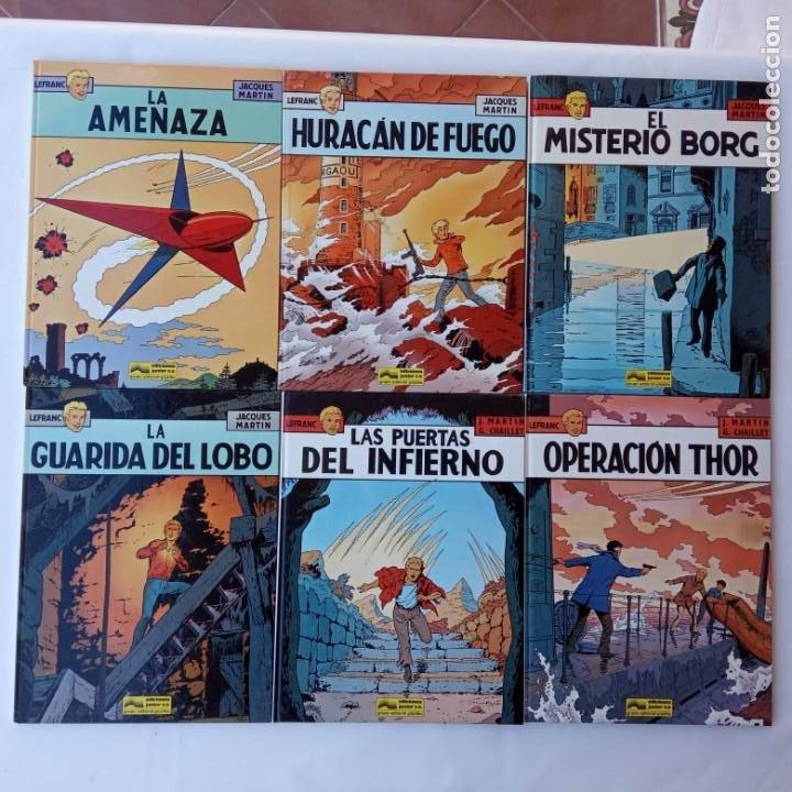 LEFRANC 1ª EDICIÓN 1986 - 1 AL 6 NUEVOS - VER IMÁGENES - J. MARTÍN - G. CHAILLET (Tebeos y Comics - Grijalbo - Lefranc)