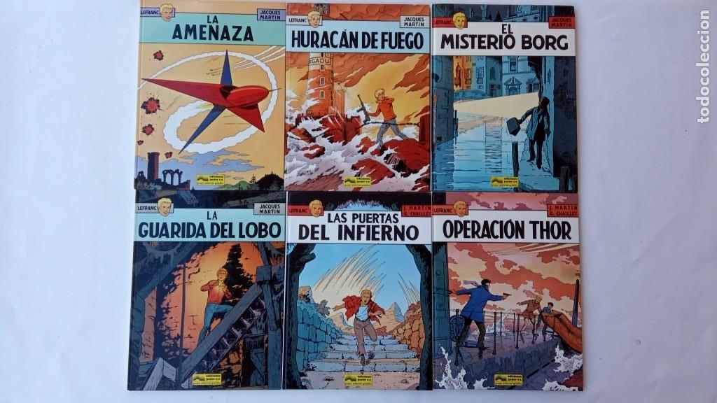 Cómics: LEFRANC 1ª EDICIÓN 1986 - 1 AL 6 NUEVOS - VER IMÁGENES - J. MARTÍN - G. CHAILLET - Foto 37 - 226156710