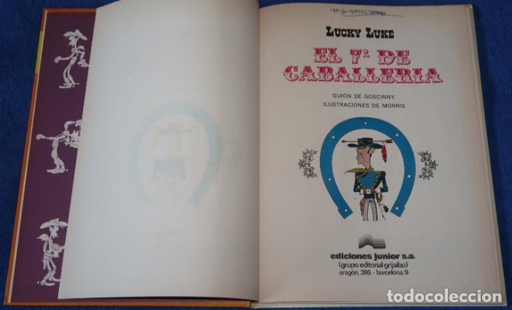 Cómics: El 7º de caballería - Lucky Luke - Ediciones Junior - Grijalbo ¡1ª edición! (1978) - Foto 3 - 228194322
