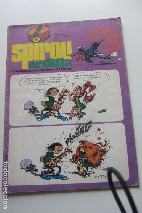 SPIROU ARDILLA N.º 64 ROBA- FRANQUIN DEVOS GOS PEYO ARX25 (Tebeos y Comics - Grijalbo - Spirou)