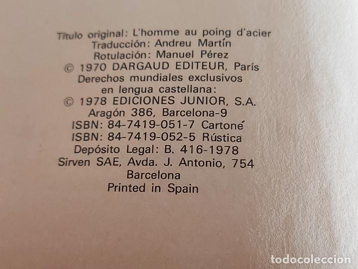 Cómics: DARGAUD PRESENTA / EL HOMBRE DEL PUÑO DE ACERO / EDICIONES JUNIOR-1978 / TAPA DURA - Foto 2 - 230365030