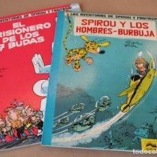 Cómics: SPIROU Y FANTASIO 12 EL PRISIONERO DE LOS 7 BUDAS 13 Y LOS HOMBRES BURBUJA - JUNIOR - Y SUELTOS. Lote 230511750