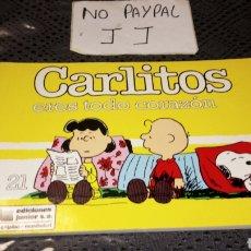 Cómics: CARLITOS SNOOPY 21 EDICIONES JÚNIOR GRIJALBO ERES TODO CORAZÓN. Lote 230882560