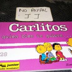 Cómics: CARLITOS SNOOPY 28 EDICIONES JÚNIOR GRIJALBO QUIÉN BIEN TE QUIERE.... Lote 230883030