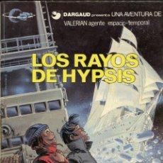 Comics : VALERIAN. AGENTE ESPACIO TEMPORAL. Nº12. LOS RAYOS DE HYPSIS. GRIJALBO 1986. DIFÍCIL. Lote 231128255