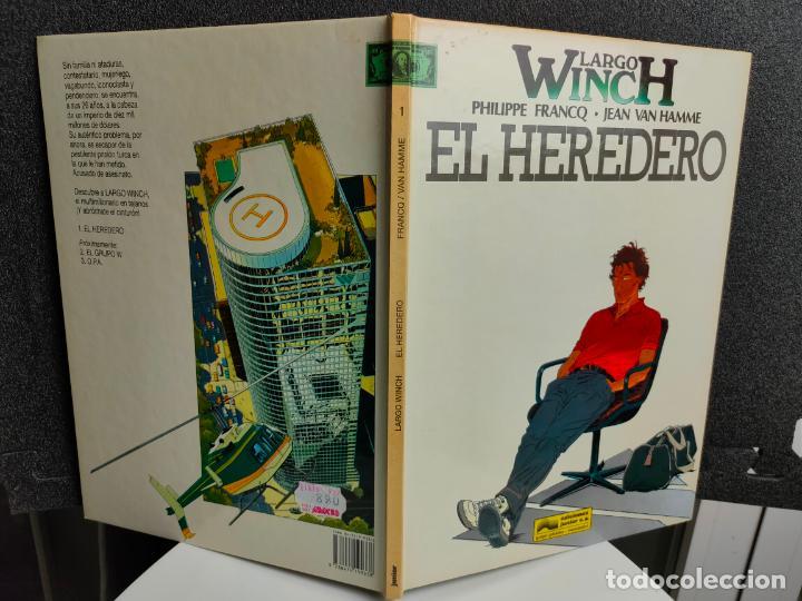 Cómics: LARGO WINCH - Nº 1 - EL HEREDERO - FRANCQ, VAN HAMME - GRIJALBO - TAPA DURA - Foto 2 - 231208420