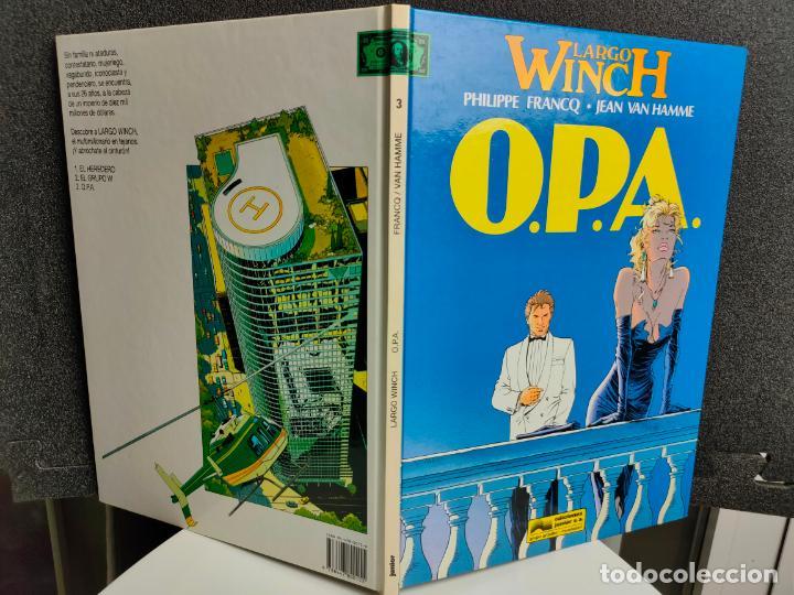 Cómics: LARGO WINCH - Nº 3 - O.P.A. - FRANCQ, VAN HAMME - GRIJALBO - TAPA DURA - Foto 2 - 231208900