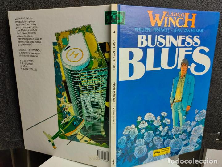 Cómics: LARGO WINCH - Nº 4 - BUSINESS BLUES - FRANCQ, VAN HAMME - GRIJALBO - TAPA DURA - Foto 2 - 231209085